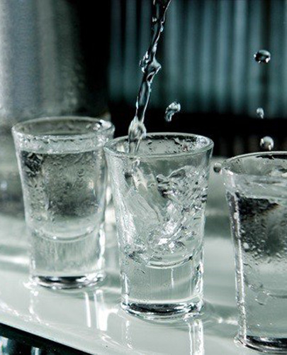 The debugged technological process of preparation of vodka.